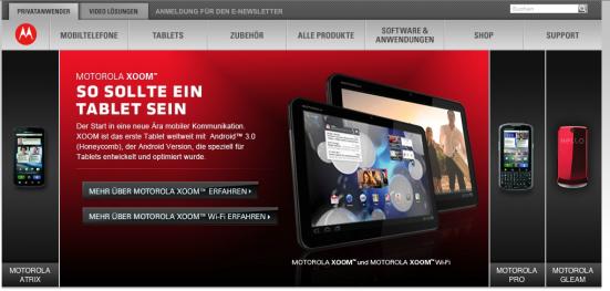 Motorola Smartphone- und Tablet-Angebot