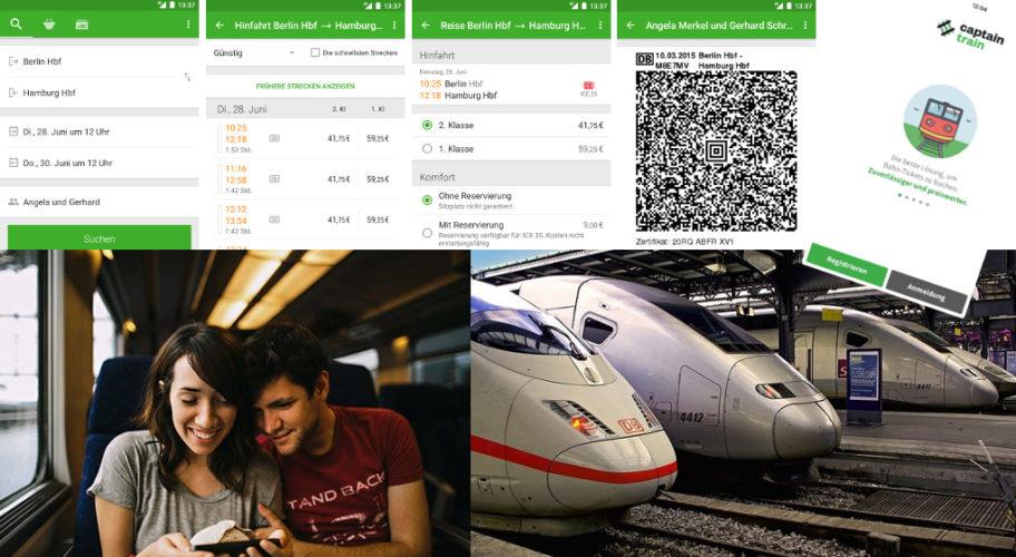 Captain Train bietet Bahnfahrkarten für Europa